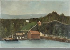Malt av Jacob Jacobsen. Eid av Oslo museum.