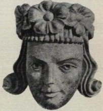 Denne statuen skal forestille Håkon 5. Magnusson, laget i hans samtid.