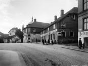 Hospitalsgaten 8-14 i 1918. Foto: Anders B. Wilse, Oslo museum