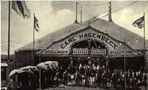 Hagenbecks sirkus var på besøk i  Kristiania i 1916.
