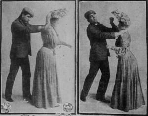 Selvforsvarskurs anno 1904. Fra San Francisco Sunday Call.