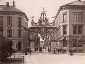 Keiser Wilhelm var norgesvenn. Her fra hans Kristiania-besøk i 1890. (Foto: Oslo museum)