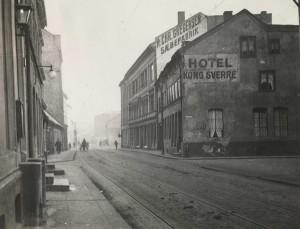 Vognmandsgaden ca 1910-20. Foto: N. Engstrøm, Oslo muserum.
