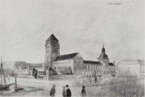 Arneberg og Poulssons første utkast.