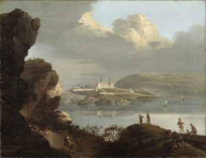 Akershus sett fra Tjuvholmen (Oslo museum)