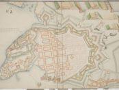 Scheel og Schøllers byplankart fra 1704.