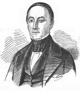 Politimester Carl Fougstad, fra Illustreret Nyhetsblad 1852.