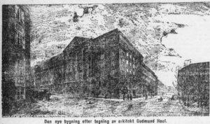 NSBs hovedkontor, tegnet av arkitekt Gudmund Hoel 1919.