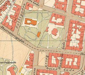 Kartutsnitt fra 1900.