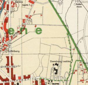 Kart over området i 1911.