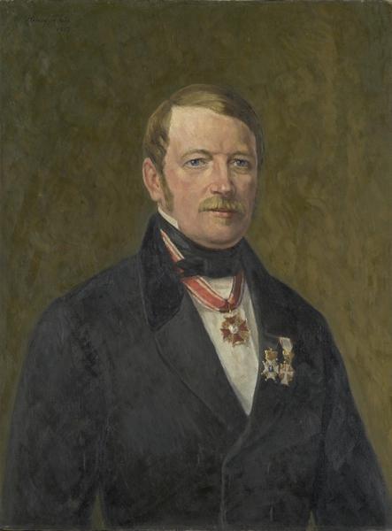Politimester Christian Frederik Jacob von Munthe af Morgenstierne hadde en tøff dag på jobben. (Maleri: Henry Thue, Oslo museum)
