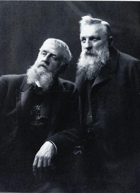 To gode kompiser: Frits Thaulow og AUguste Rodin.