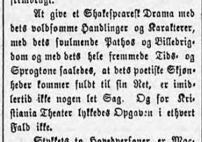 Laber kritikk i Aftenposten.